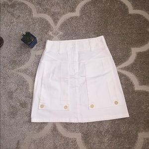 Theory White a line skirt